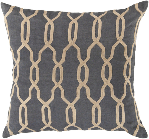 Crosshatch in Charcoal Pillow