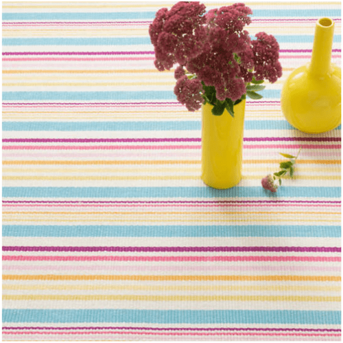 Evia Stripe Woven Cotton Rug
