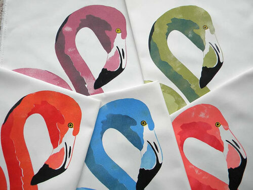 Flamingo Outdoor Pillow in Many Colors