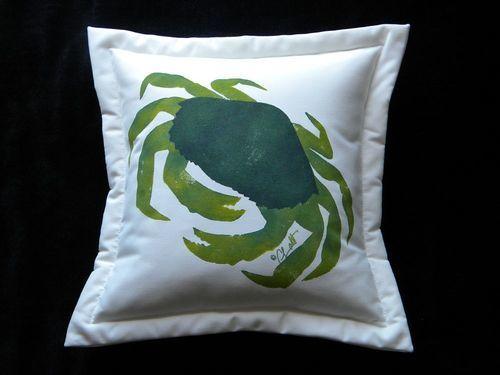Green Crab Pillow