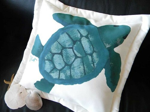 Green Sea Turtle Pillow