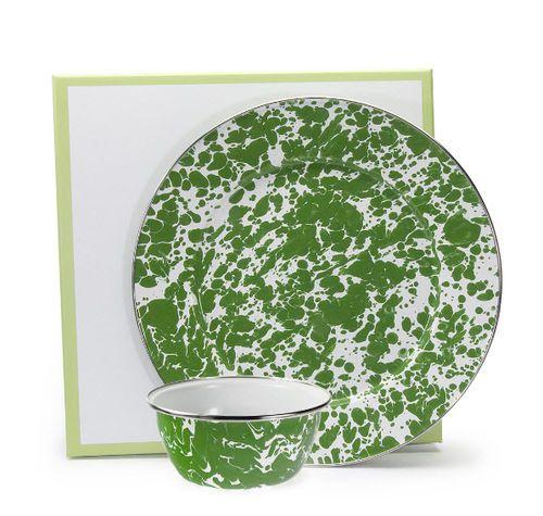 Green Swirl Dip Set