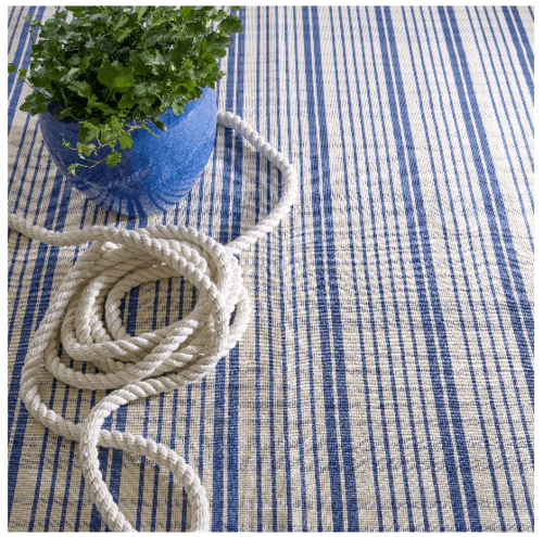 Guilford Cobalt Woven Cotton Rug <font color=a8bb35>NEW</font>