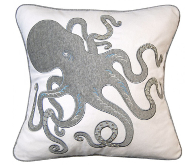 Inkling Grey Octopus Indoor Pillow