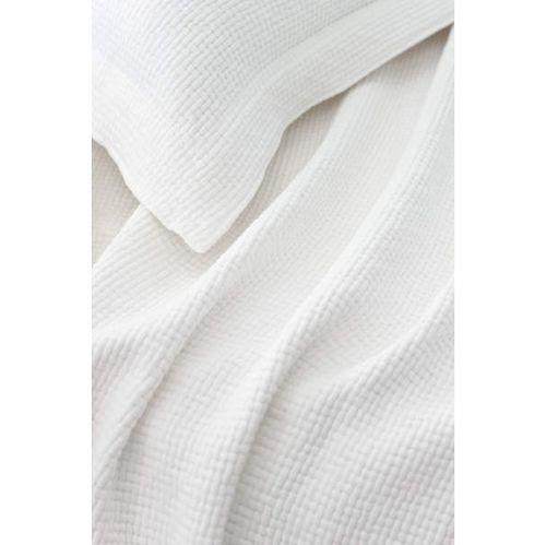 Interlaken Matelasse White Coverlet
