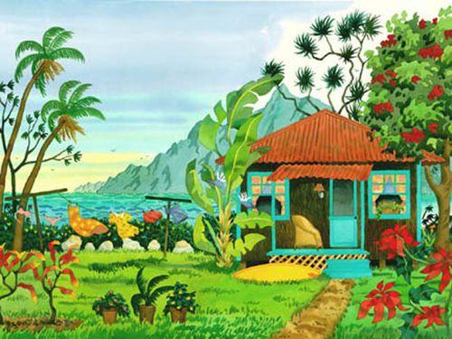 Island Getaway Beach Print