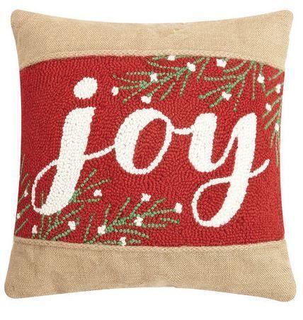 Joy Burlap Pillow