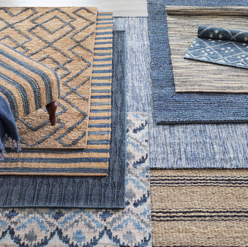 Jute Woven Blue Rug For Sale Cottage Amp Bungalow
