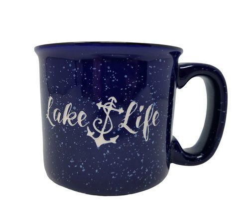 Lake Life Ceramic Coffee Mug Set of 4