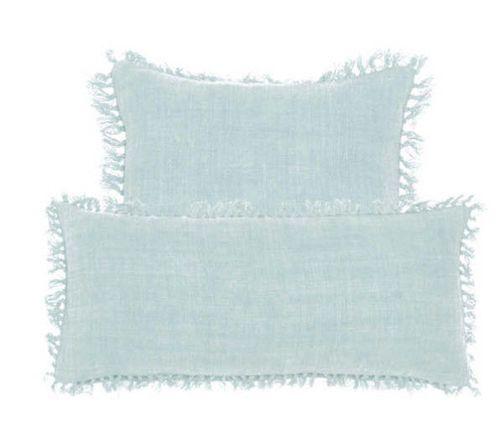 Laundered Linen Sky Decorative Pillow