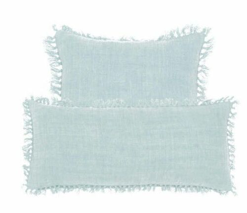 Laundered Linen Sky Pillow - Two Sizes