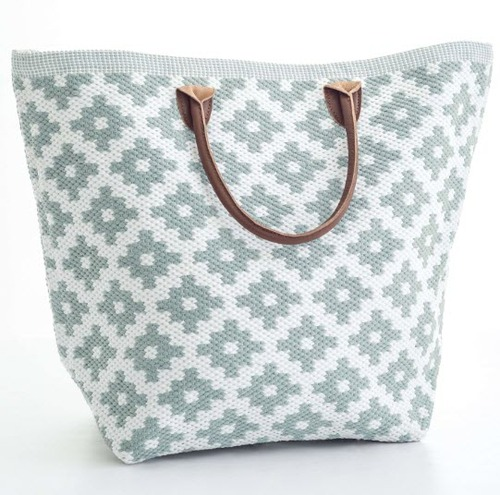 Le Tote Light Blue/White Tote Bag