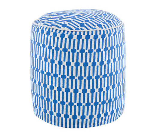 Links Cobalt Indoor/Outdoor Pouf