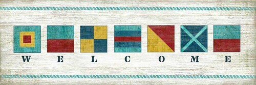 Nautical Welcome Vintage Sign - Two Sizes