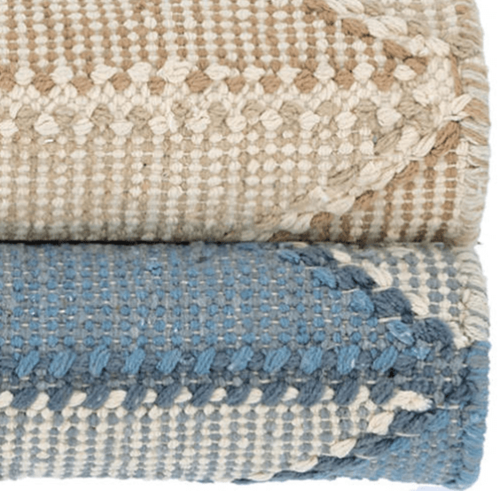 Ojai Wheat Loom Knotted Cotton Rug <font color=a8bb35>NEW</font>