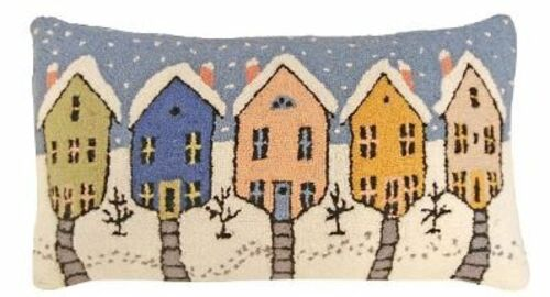 Old Town Christmas Pillow
