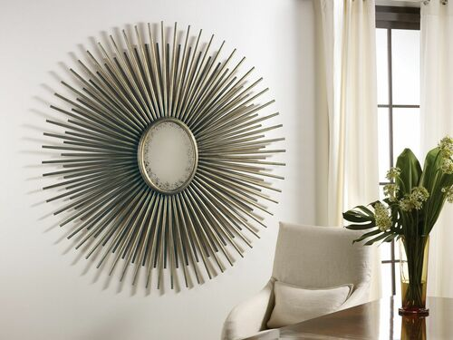 Oval Florentine Starburst Mirror - Gold or Silver Finish