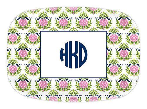 Pink Pineapple Melamine Platter