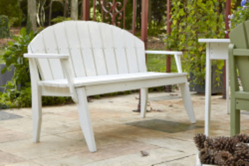 Plaza Three-Seat Outdoor Bench with Back