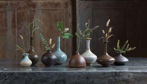 Porcelain Bud Vases Set of 8
