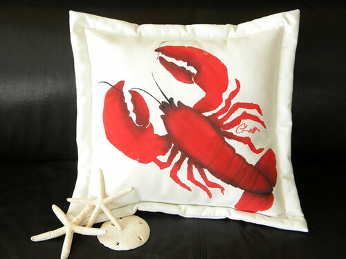 Red Lobster (aka Lawrence) Pillow