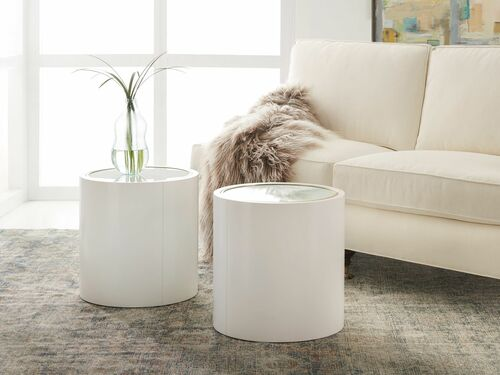 Seaglass Cylinder End Table *Low Stock