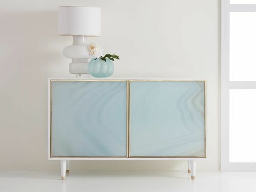Seaglass Two Door Cabinet <font color=a8bb35>NEW</font>