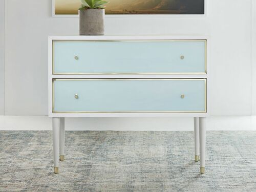 Seaglass Two Drawer Chest <font color=a8bb35>NEW</font>