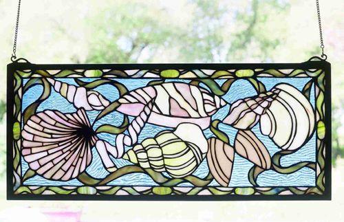 Seashells Stained Glass Window