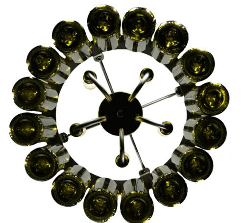 Sixteen Wine Bottle Chandelier