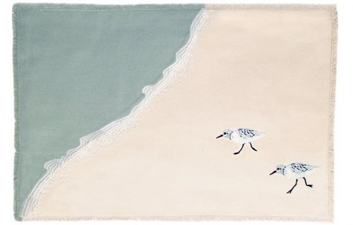 Sprinting Sandpipers Table Linen Collection