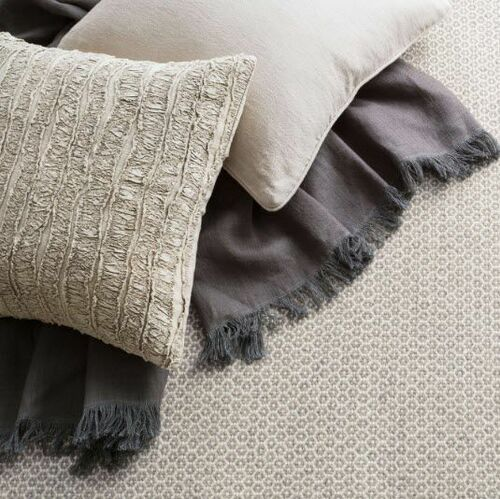 Stone Washed Linen Throw Shale