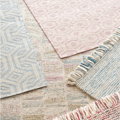 Taj Blue Woven Wool Rug