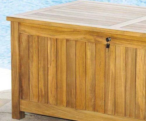 Teak Beach Cushion Storage Box