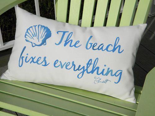 The Beach Fixes Everything Lumbar Pillow