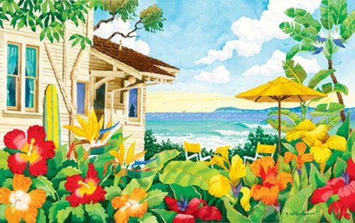 The Good Life Beach Print