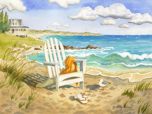Waiting for You Beach Print