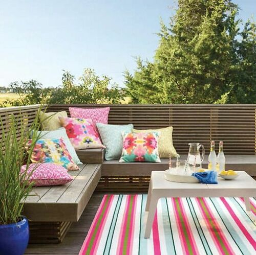 Watermelon Stripe Indoor/Outdoor Rug