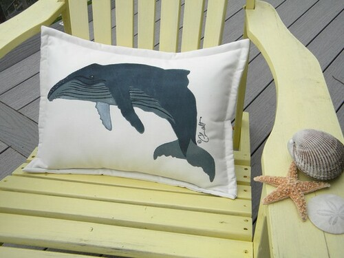 Whale Lumbar Pillow