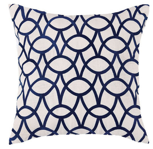 Abbey Indigo Embroidered Pillow
