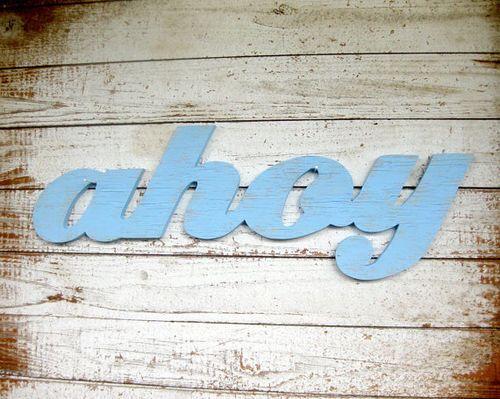 Ahoy Beach Sign