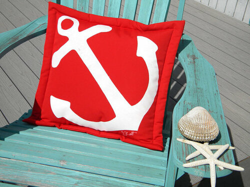 Anchor Outdoor Pillow