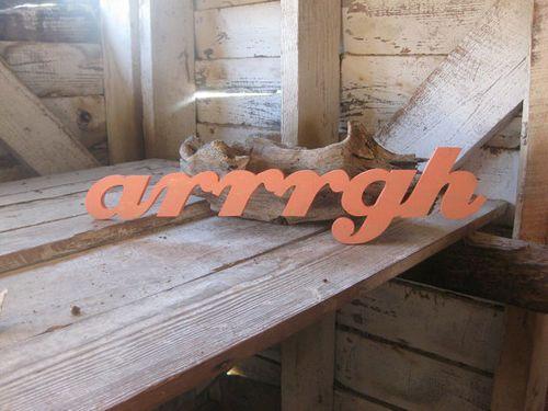 Arrrrgh Beach Sign