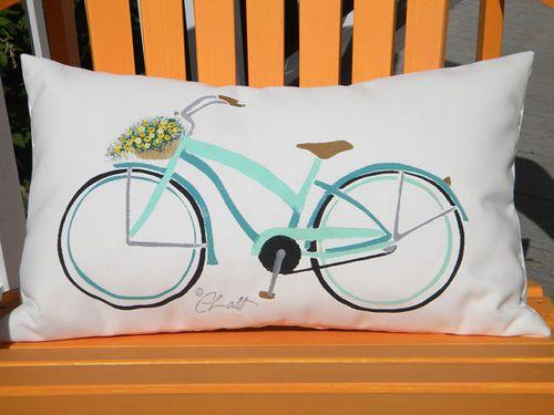 Beach Cruiser Outdoor Pillow