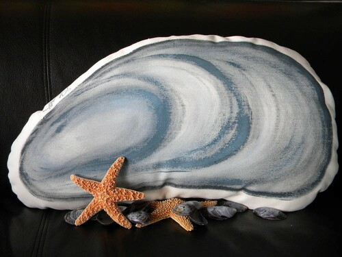 Blue Mussel Indoor/Outdoor Pillow