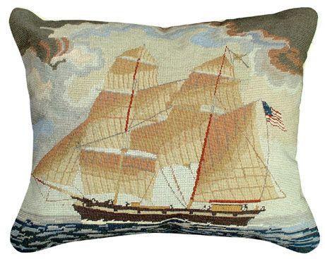 Brig Georgiana Needlepoint Pillow