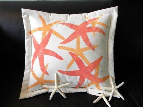 Coral Seastars Solo Indoor/Outdoor Pillow