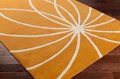 Forum Rug 100% Wool in Orange