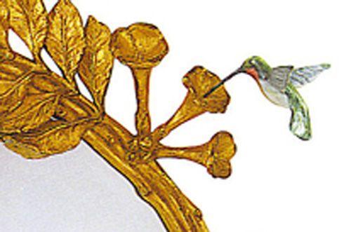 Hummingbird and Trumpet Vine Mirror
