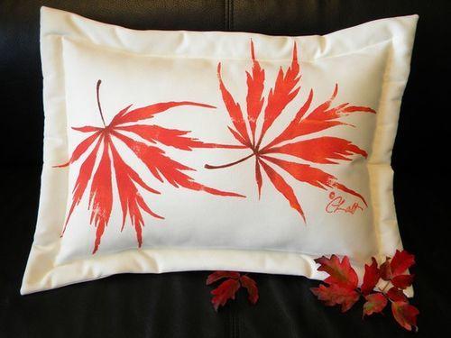 Japanese Maple Lumbar Pillow